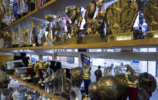 A selection of trophies in our shop