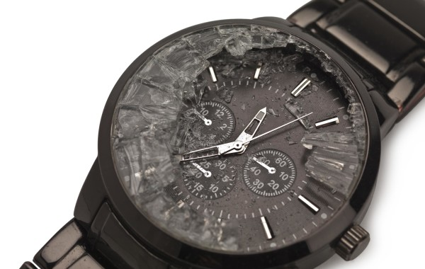 Glass watch face smashed