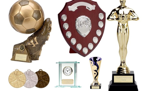 Selection of trophies, awards and medals