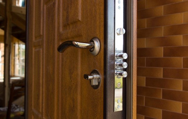Brown door lock